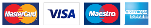 pay by MasterCard, Visa, Maestro or American Express